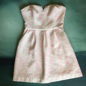 Moulinette Soeurs Strapless Tweed Dress 2